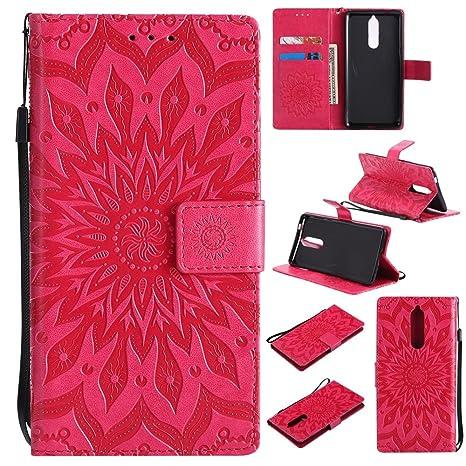 GHC Cubiertas y Estuches, para Nokia 8 Sun Flower Diseño de ...