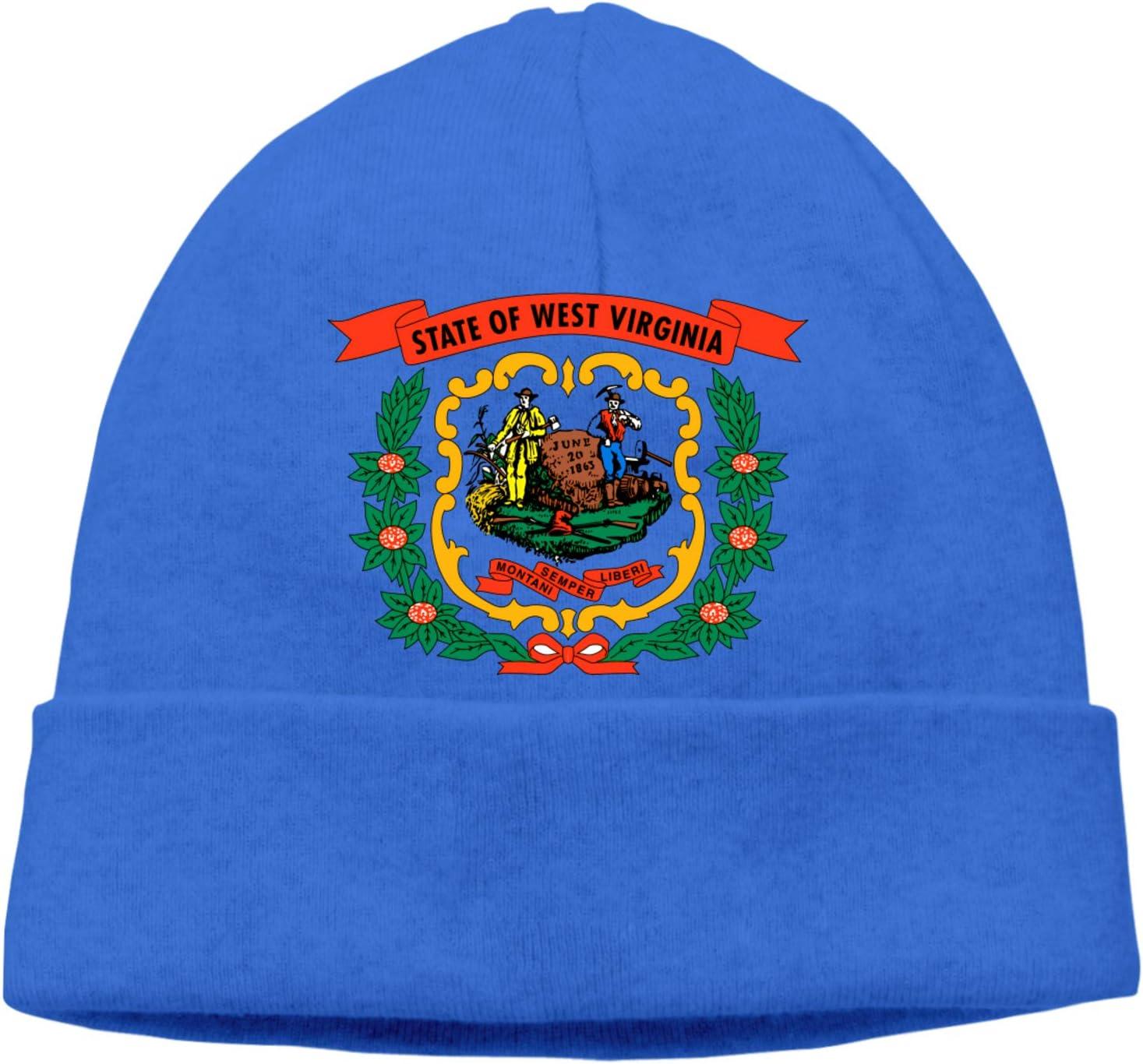 Fejarx State of West Virginia Slouchy Hedging Head Hat Men Women Winter Outdoor Warm Caps Hedging Cap B-12