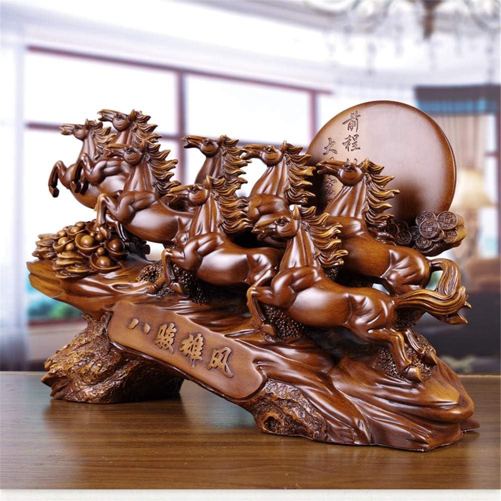 NBZLY Huit Chevaux et Statues de Sculptures Pas Facile /à Porter Salon Home TV Cabinet Porche Bureau D/écoration de la Maison Color/é Ornements Feng Shui Cadeaux Porte-Bonheur