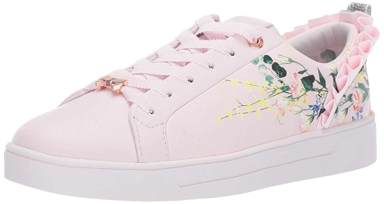 Elegant Pink Leather Ted Baker Womens Astrina Sneaker
