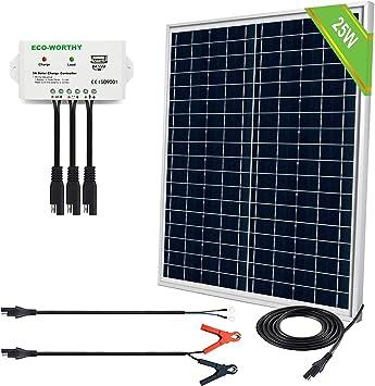 ECO-WORTHY 25 Watts 12V Off-Grid Solar Kit