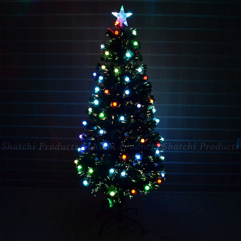 4ft Christmas tree Fiber Optic Pre-Lit xmas tree with Berry LED Lights Christmas SHATCHI SH-120-6063