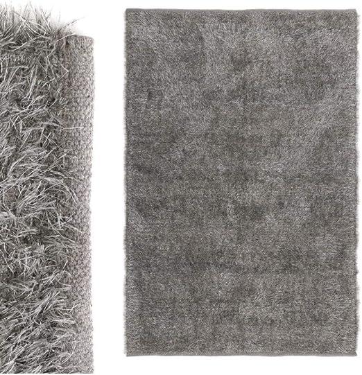 Hogar y más - Alfombra Grande de Color Gris de algodón: Amazon.es ...