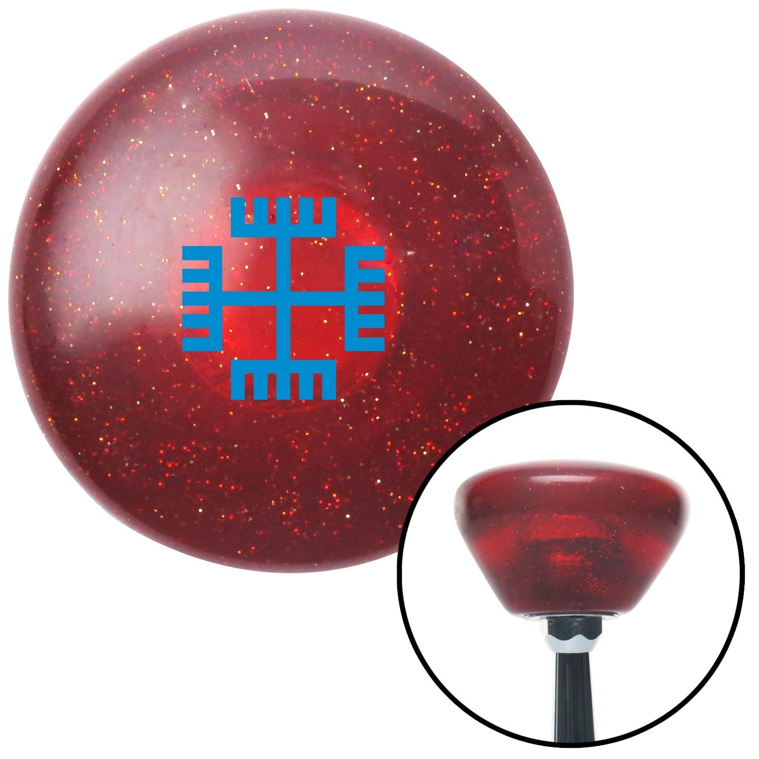 Blue Hands of God American Shifter 195917 Red Retro Metal Flake Shift Knob with M16 x 1.5 Insert