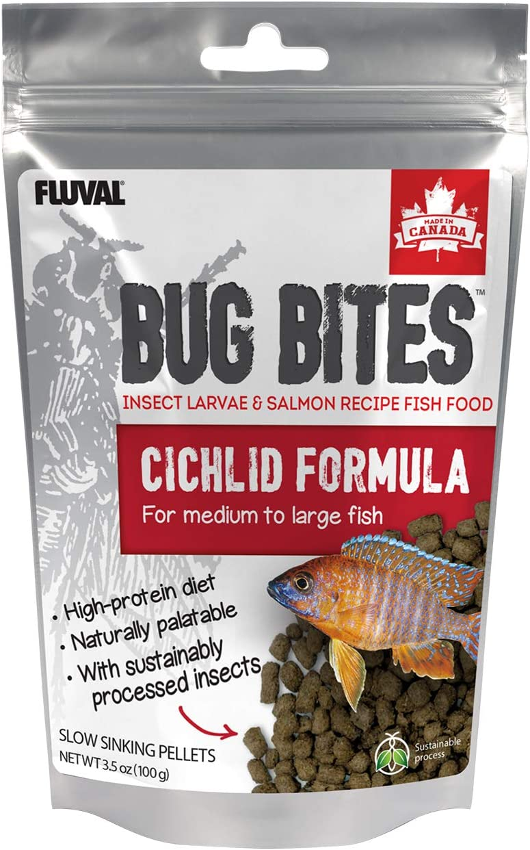 Fluval Bug Bites Pellets for Cichlids