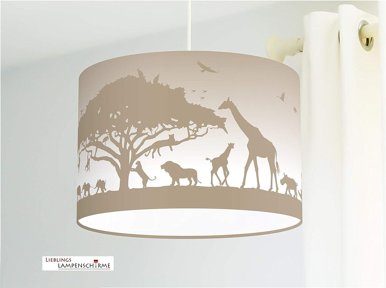 Kinderzimmerlampe Tiere Afrika