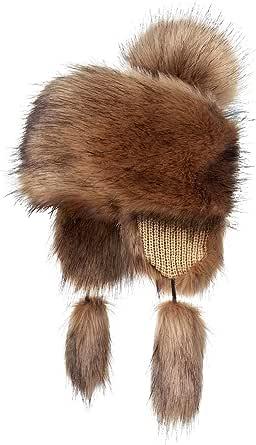 Futrzane Faux Fur Trapper Hat for Women - Fun, Warm & Different Russian Fur Hat