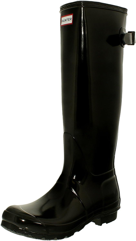 Hunter Womens Original Back Adjustable Gloss B00E5LJP38 6 B(M) US|Black Gloss