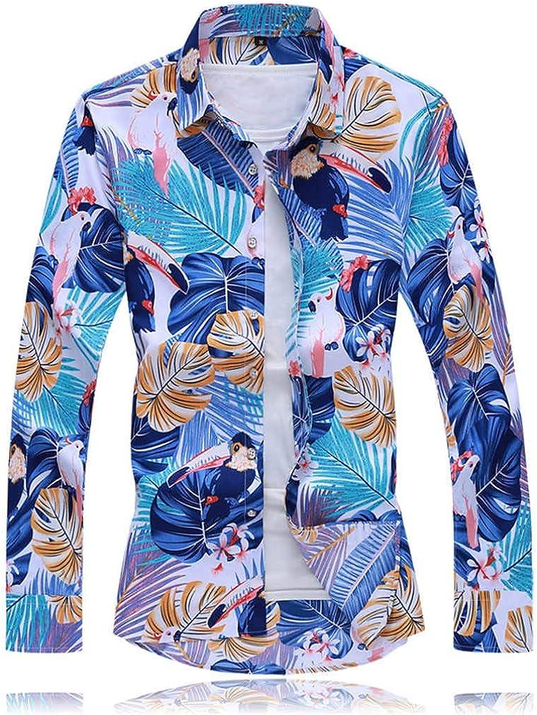 Camisa Hawaiana para Hombre Camisa De Hombre De Manga Larga con Estampado Floral Tops Hawaianos Camisa con Botones Descubiertos Camisa Delgada Y CóModa MáS Tallas Grandes Resplend: Amazon.es: Ropa y accesorios