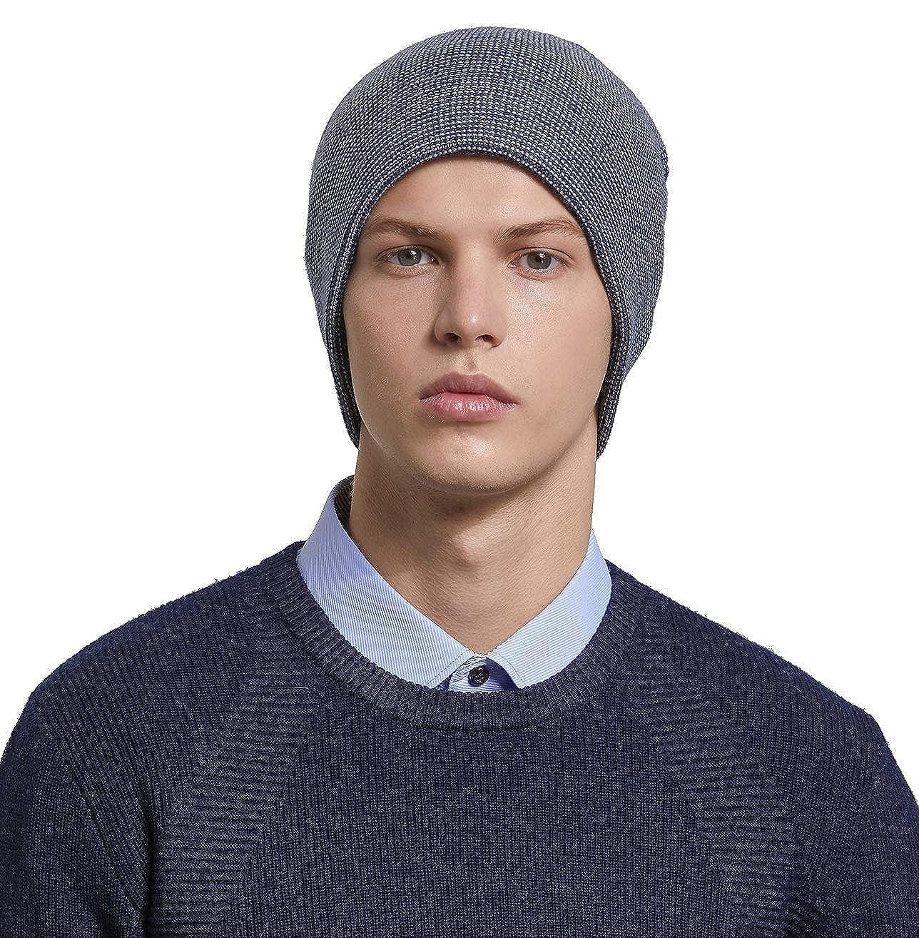 d6ec2976f72e9 RIONA 30% Laine Bonnet Hiver Chapeau tricoté Homme Beanie Hats Hiver  Chapeau Wool Beanie pour Homme Taille Unique: Amazon.fr: Vêtements et  accessoires