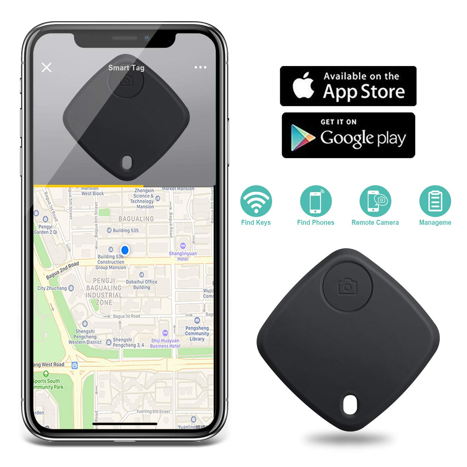 Iphone Gps Tracker >> Tbmax Smart Finder Locator Key Finder Bluetooth Gps Tracker With App Control For Phone Wallet Bag Luggage Compatible With Ios Android 2 Pack