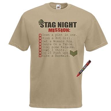 982857e52 Gents Khaki Stag Do Mission T-Shirt Funny Bachelor Party TShirt ...