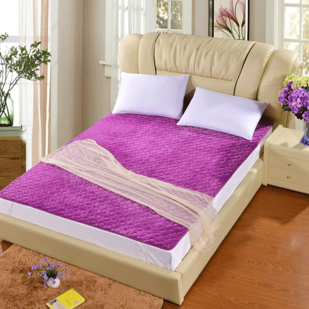 4 100x200cm Warm Multifunctional Non-Slip Mattress Tatami Comfortable Sleeping Mat +A (color   1, Size   90x200cm)