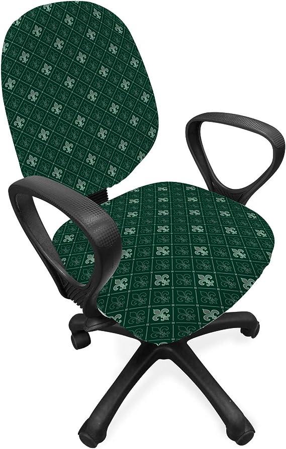 Ambesonne Fleur De Lis Office Chair Slipcover