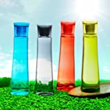 Steelo Selina Plastic Water Bottle, 1 Litre, Set of 4, Multicolour