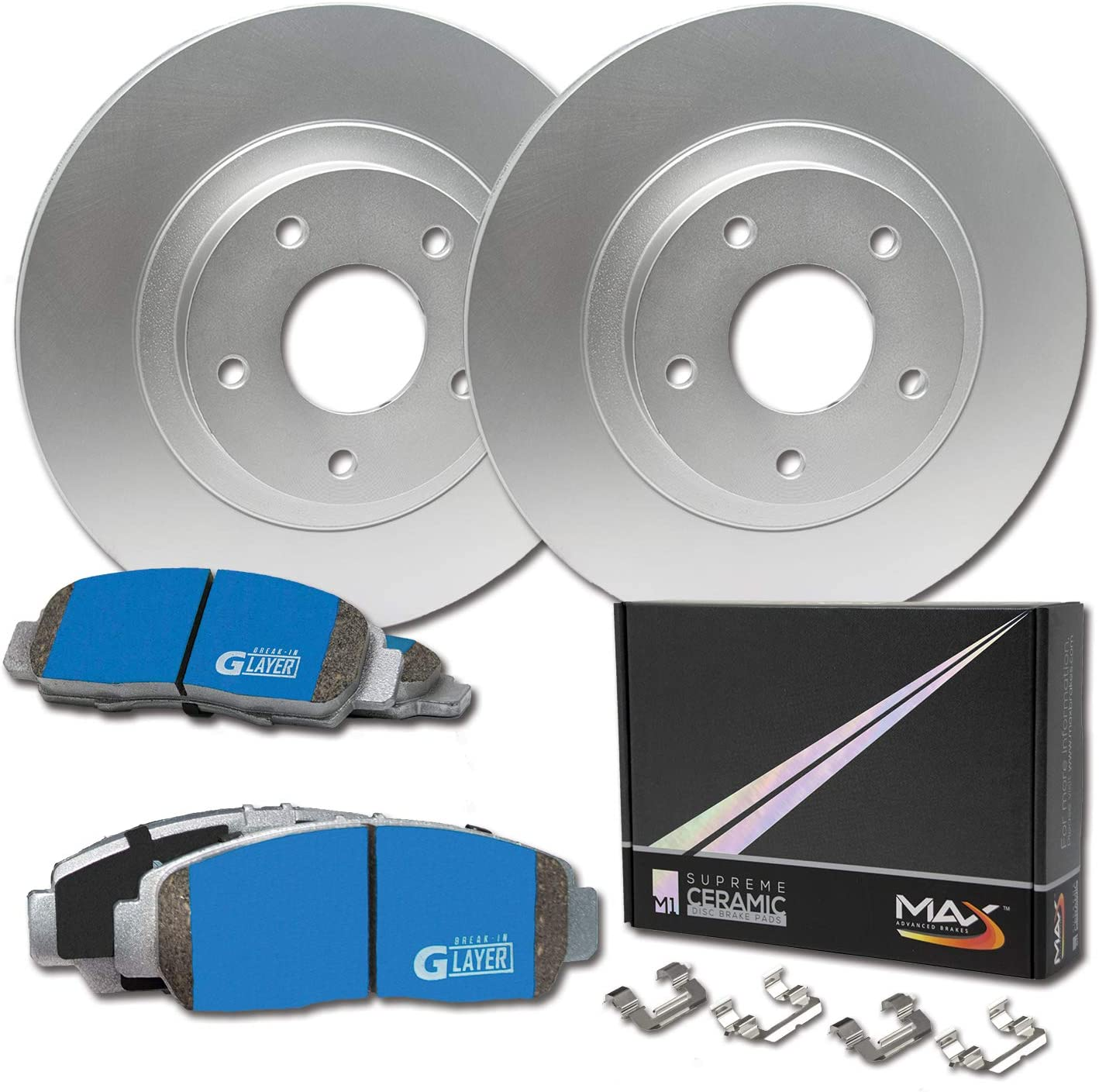 Max Brakes Geomet OE Rotors with Carbon Ceramic Pads KT114661 Front
