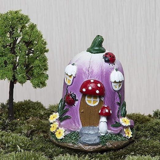 Gxianwengen Gran Casa de la Seta Hada Enano de jardín Musgo terrarios Decoración for Resina Artesanal Bonsai Garden Dollhouse Miniatures Figurita: Amazon.es: Hogar