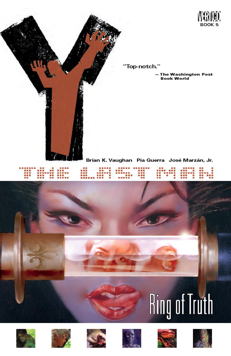 Amazon.com: Y: The Last Man, Vol. 5: Ring of Truth (9781401204877): Brian  K. Vaughan, Pia Guerra, Jose Marzan Jr.: Books