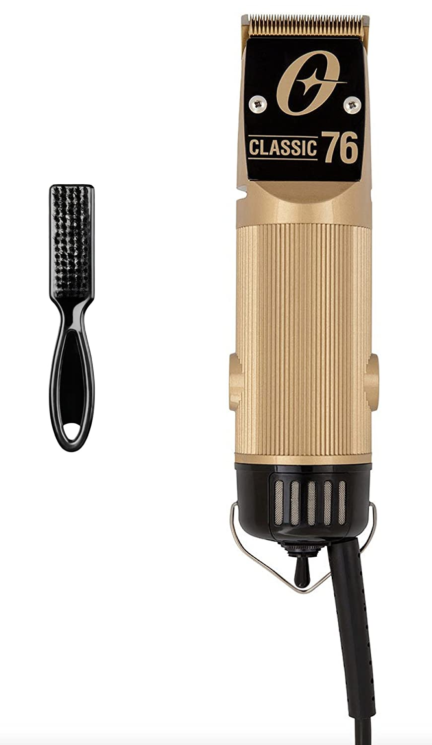 Oster Professional Limited Edition 2-Speed Gold Classic 76 Clipper with gold plated #000 blade, Blade Brush