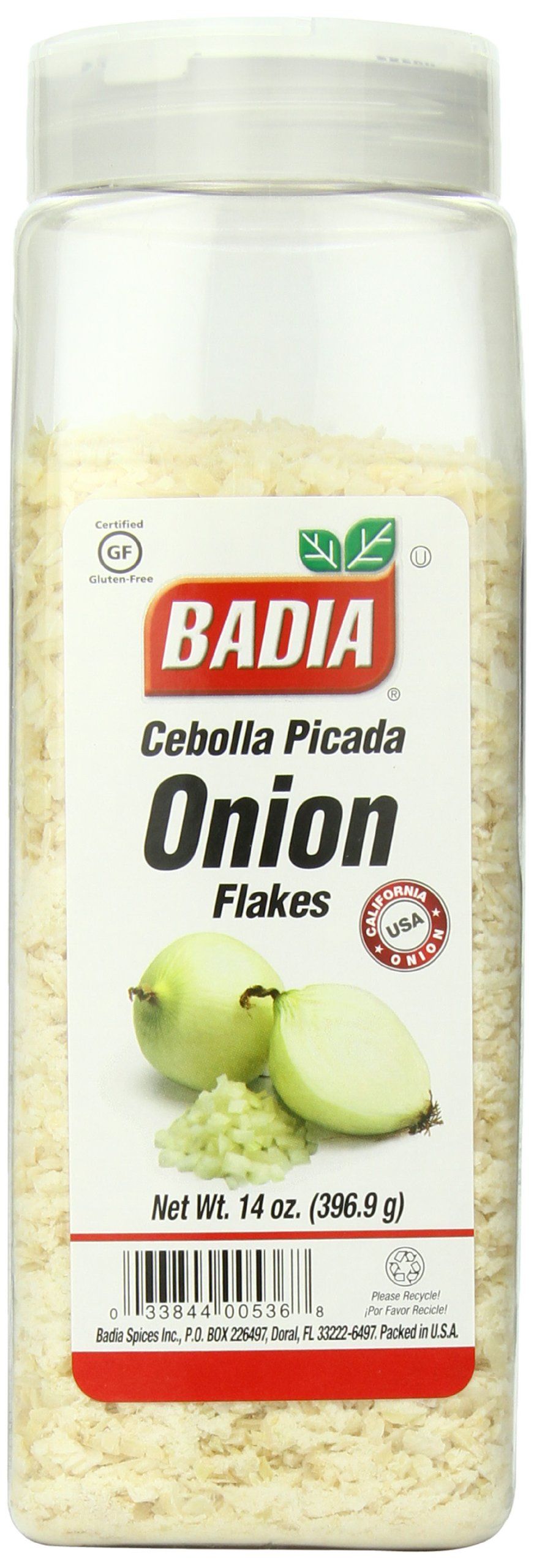 Badia Onion Flakes, 14 Ounce (Pack of 6)