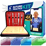 Complete Suture Practice Kit for Medical Students w/How-to Suture HD Video Course, Suture Training Manual & Carryall…