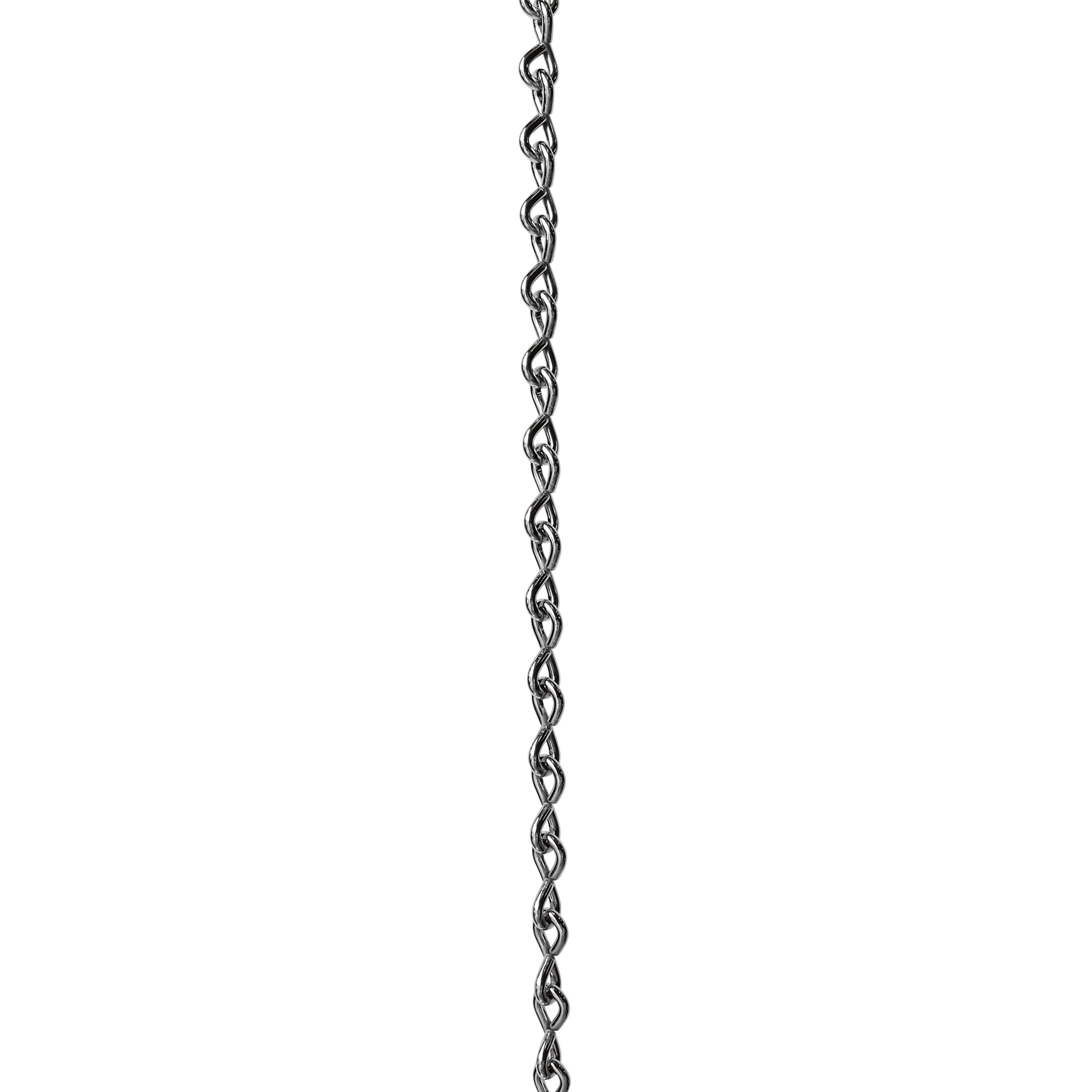 RCH Hardware CH-S50-06-PN-3 | 5 Gauge Decorative Solid Steel Single Jack Fixture Chain | 3 Foot Increments | Polished Nickel Finish