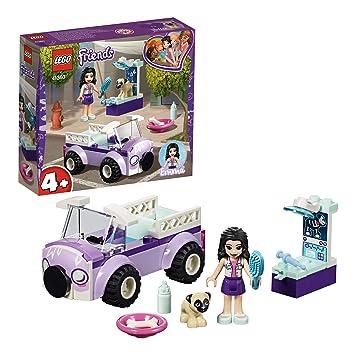 LEGO 41360 Friends Emma's Mobile Vet Clinic Playset, Vet Van Emma mini-doll  and Dog figure, Toy Vet Kit for Kids