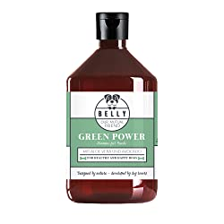 Shampoing chien BIO Green Power de BELLY | 500ml soin premium huile avocat et aloe vera | shampoing chiot 100% naturel | shampoing sans sulfate