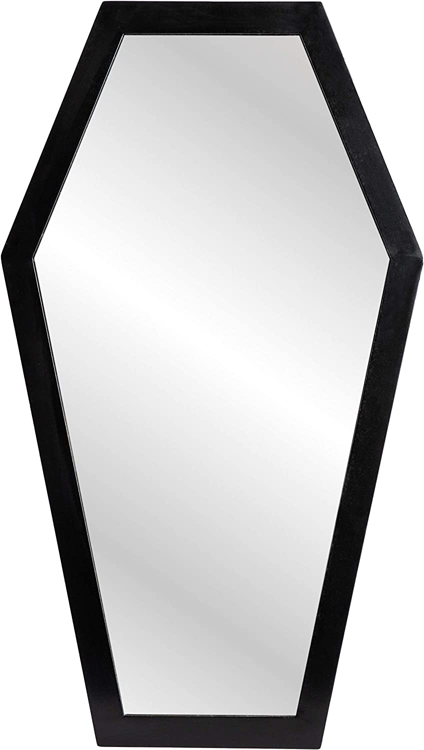 Gothic Curiosities Large Coffin Mirror - 23 Inch Gothic Decor for Bedroom Or Bathroom - Hooks and Hardware Included, Ready to Hang - Pair with Spooky Goth Coffin, Moon Shelf