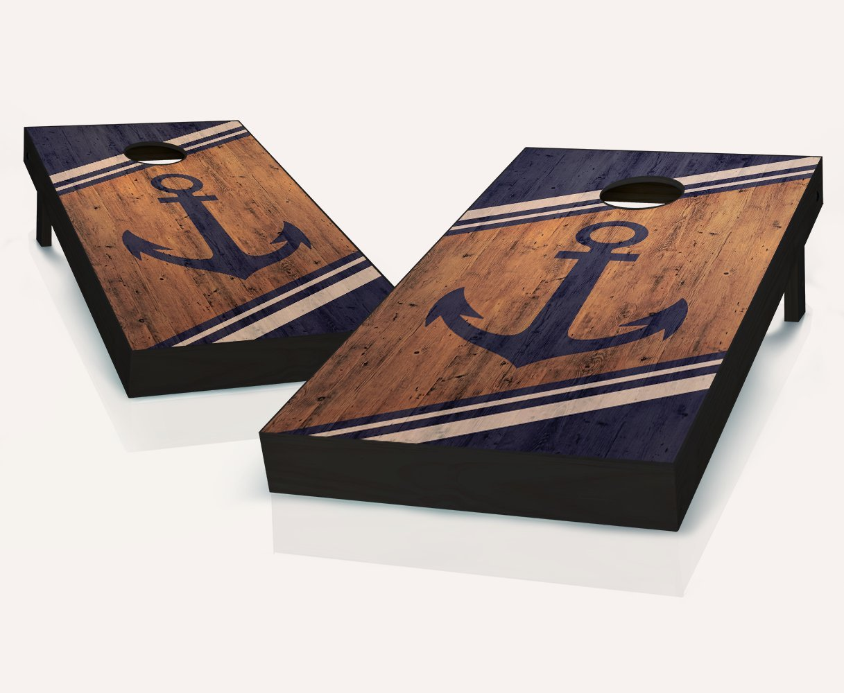 Tailgating Pros Anchor Cornhole Boards With Set of 8 Cornhole Bags