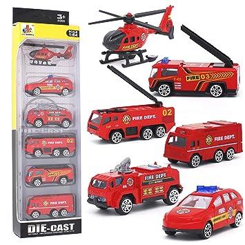 Métal 6pcs Camion Plastique Pompiers En Classiques Pour 5 Avec Jouet Desong Voitures Et Modèles 3 Mini Enfants 4 Ans De CdBrxoe