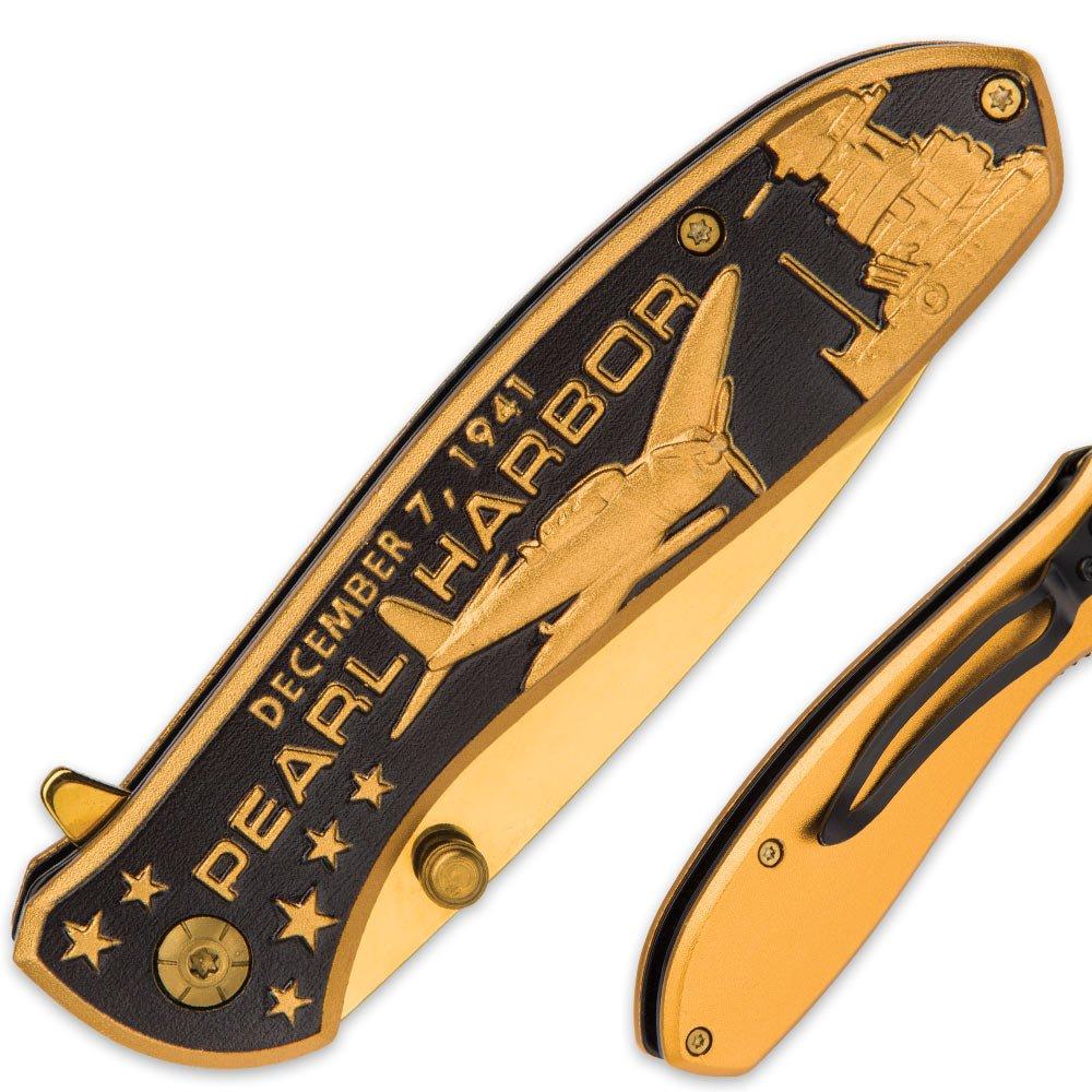 Amazon.com: Pearl Harbor – Cuchillo de bolsillo con apertura ...