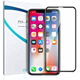iPhone X Screen Protector Glass, QiMai 3D Invisible+ iPhone X Full Tempered Glass Screen Protector [Newest Dust-Free Version] for Apple iPhone X/iPhone 10 (2017)