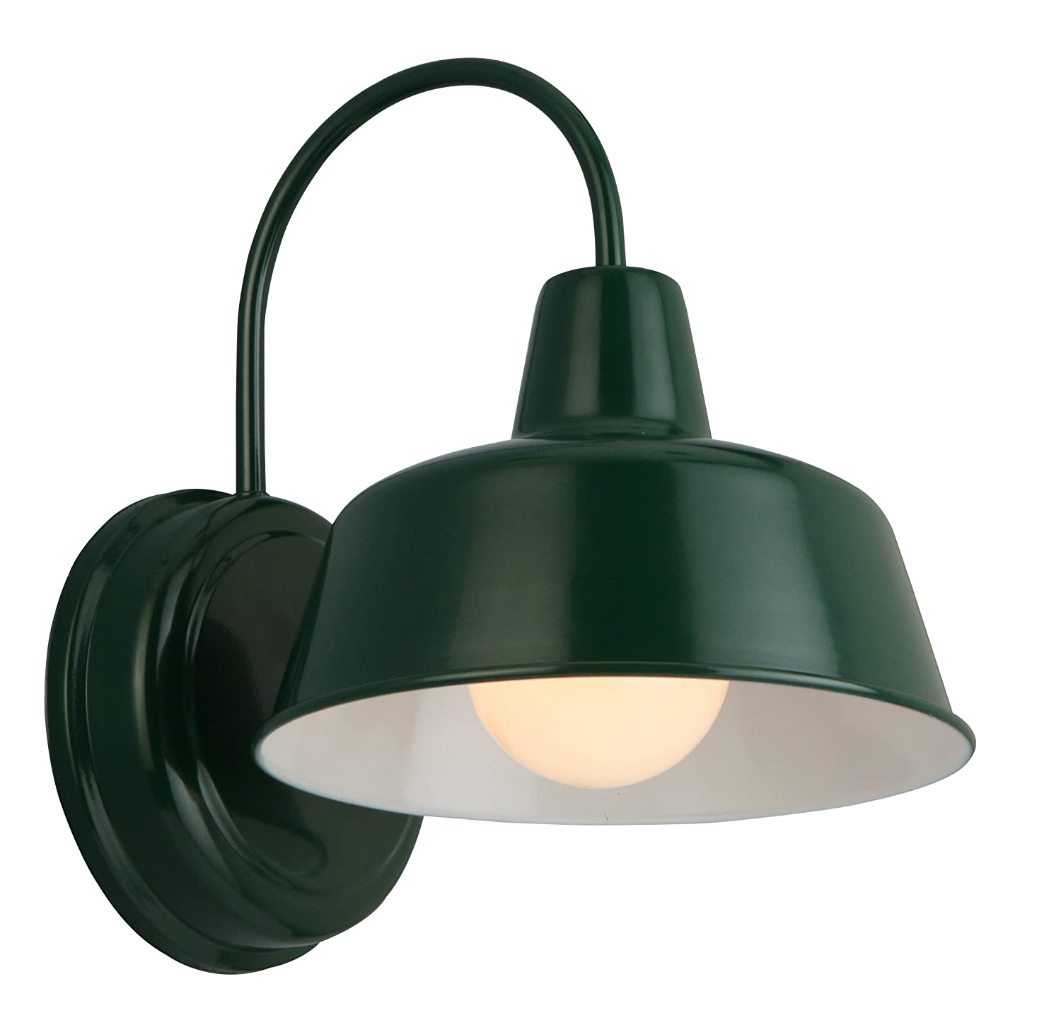 Design House 579342 Mason 1 Indoor/Outdoor Wall Light, Forest Green ...