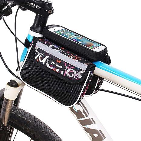 JESSIEKERVIN YY3 Bolsa de sillín de Bicicleta MTB a Prueba de ...