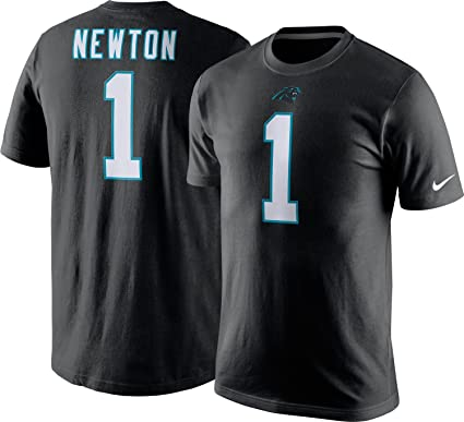 detailed look 4b510 21e4f Nike NFL Carolina Panthers Cam Newton Tee Shirt - Black