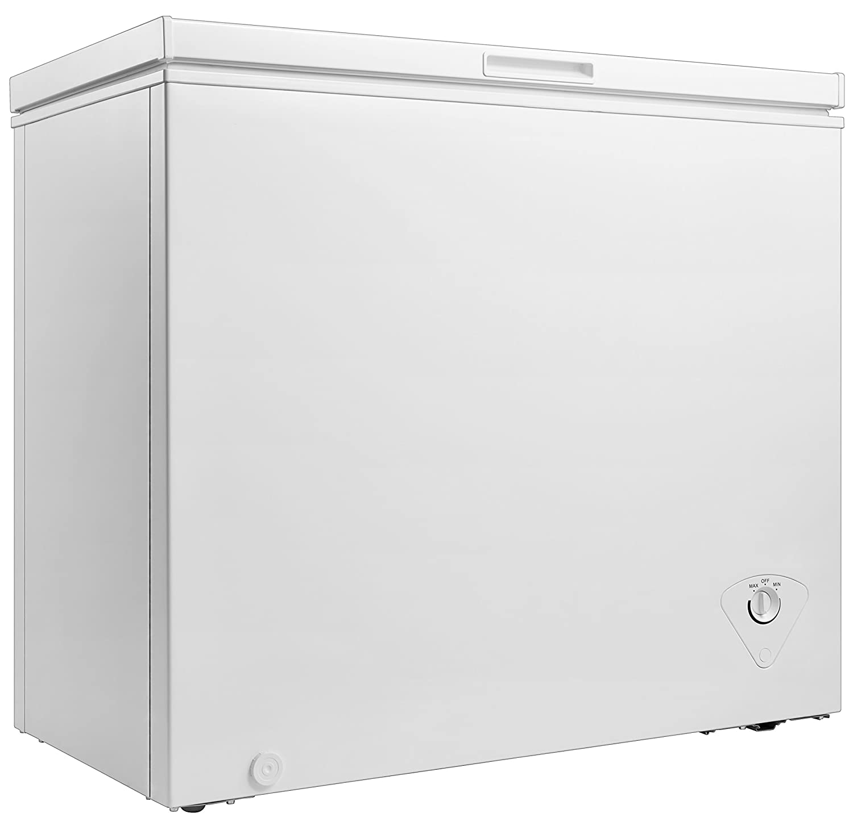 amazon com midea whs 258c1 single door chest freezer 7 0 cubic