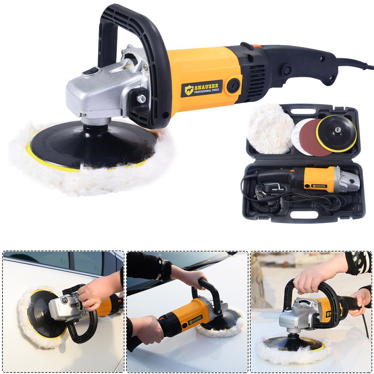 New 7'' Electric 6 Variable Speed Car Polisher Buffer Truck Car Boat Waxer Sander Detail Polishing