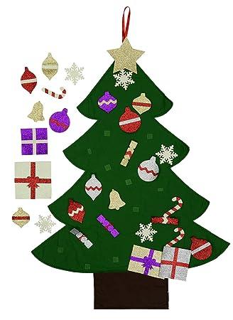 Amazon.com: Felt Christmas Tree for Kids- Glitter Edition. 3Ft ...