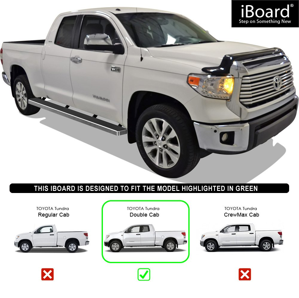 APS iBoard Running Boards 5 Custom Fit 2007-2019 Toyota Tundra Double Cab Pickup 4-Door Nerf Bars | Side Steps | Side Bars