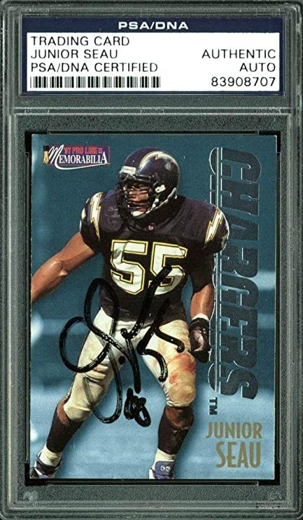 Chargers Junior Seau Signed Card 1997 Pro Line  MEM41 Slabbed - PSA DNA  Certified c9e3a142b