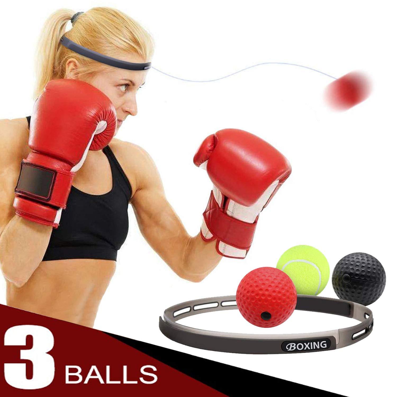 AHNR B07PWVNTDV ボクシングリフレックスボール 3段階の難易度 3段階の難易度 ボクシングファイトボール ヘッドバンド付き AHNR B07PWVNTDV, セブンマルイ質店:26fcf4f3 --- capela.dominiotemporario.com