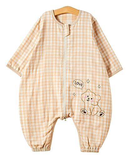 Chilsuessy - Saco de dormir unisex para bebé (100% algodón, mantel de verano