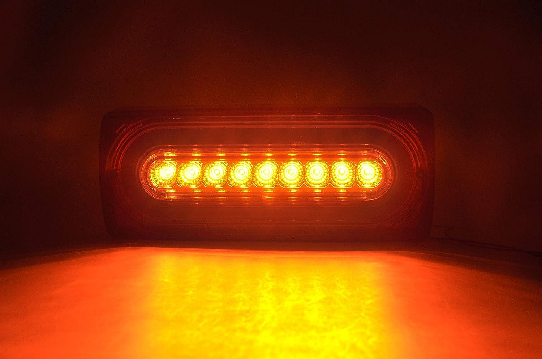 3 in 1 per fanale posteriore di classe G W463 G500 G55 AMG G550 1990-2015 Fanale posteriore a LED in stile dinamico colore rosso ambrato e rosso
