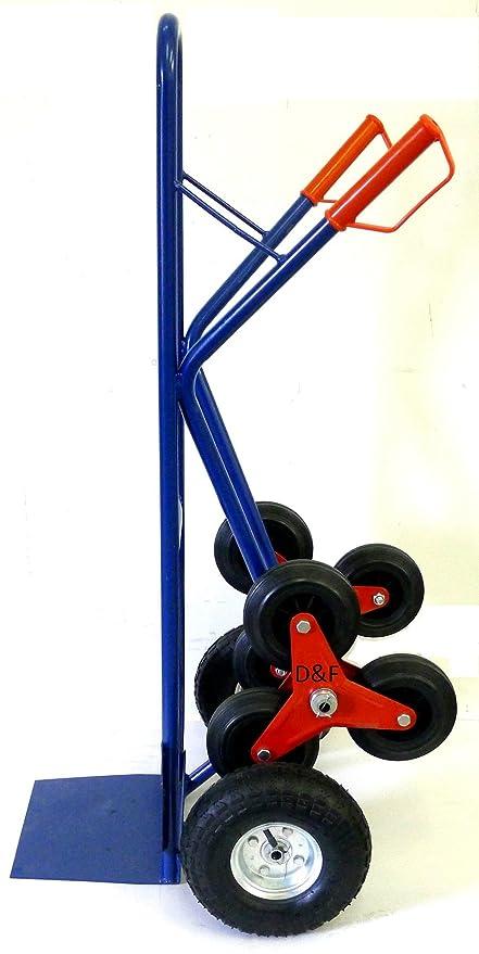Carretilla para Escaleras, 200 kg, de Acero, Con 3 Ruedas adicionales para escaleras