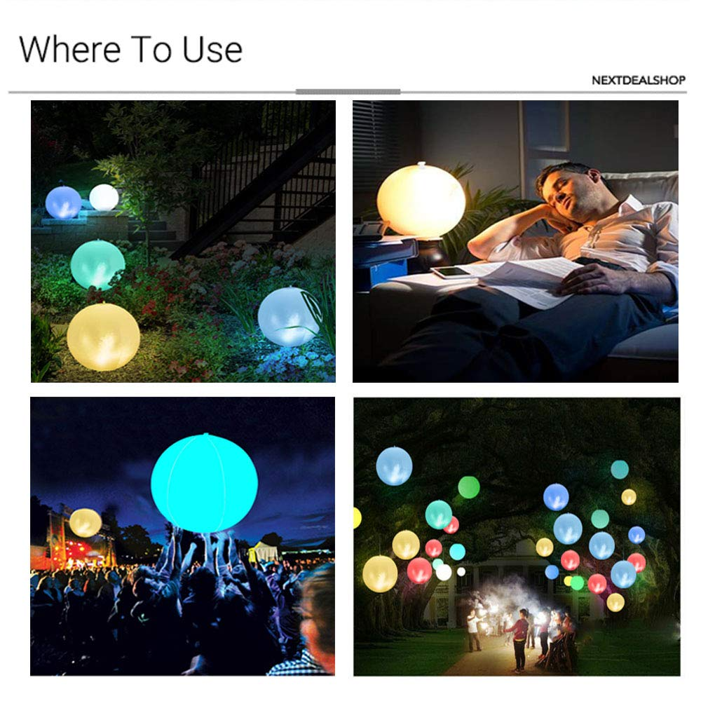 IPX7 Waterproof Party Light for Mood//Garden//Pond+USB Cable+Remote 24 Solar Floating Pool Light,7 Color Changing Inflatable Swimming Pool Lights,Rechargeable LED Ball Lamp Light for Pools 1PC