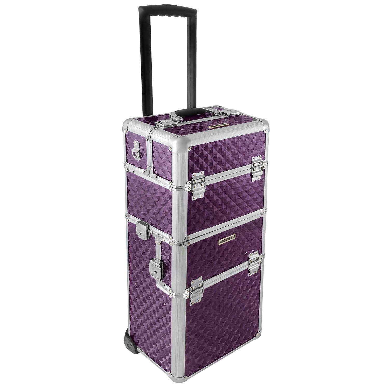 anndora Aluminium Reisetrolley Reisekoffer 60 L Koffer Beautycase 2 Räder - Farbwahl ANNDORA SHOPPING-WELTEN
