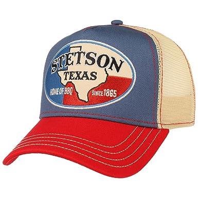 Stetson Gorra Trucker Texas Home of BBQ Mujer/Hombre | de Beisbol Baseball Malla Snapback, con Visera, Visera Verano/Invierno | Talla única Beige: ...