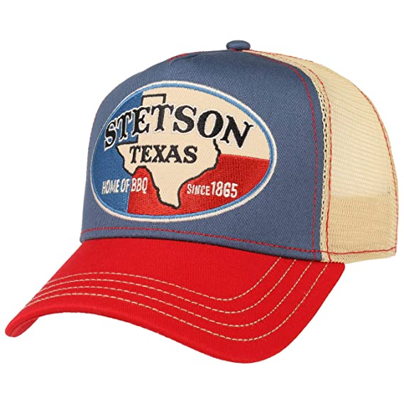 33ef2c26548a9 Stetson Texas Home of BBQ Trucker Cap Base Baseball (One Size - Beige)