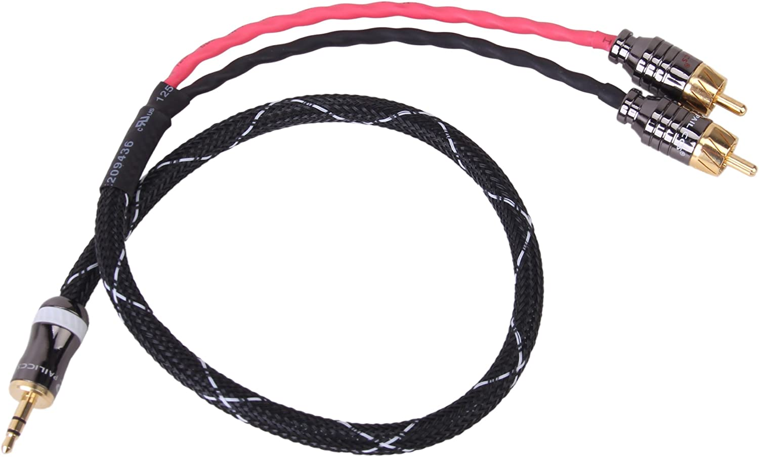 3.5mm to RCA cable 0.5 meter headphone jack